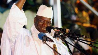Le président sortant de la Gambie, Yahya Jammeh, lors d'un meeting à Banjul, le 29 novembre 2016. (THIERRY GOUEGNON / REUTERS)