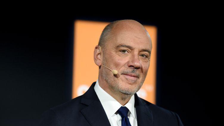 Stéphane Richard, le PDG d'Orange, le 13 février 2020. (ERIC PIERMONT / AFP)
