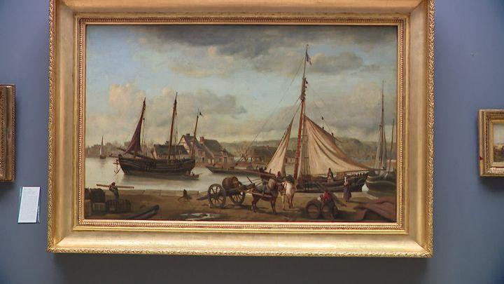 Jean-Baptiste Camille Corot - Les Quais marchands de Rouen ou L'Avant-port de Rouen - Rouen, musée des Beaux-Arts (inv. MNR 155) (E. Laperdrix /  France Télévisions)