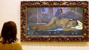 """""""Nevermore"""" de Paul Gauguin, exposé à la fondation Louis Vuitton à Paris (15 février 2019)  (François Guillot / AFP)"""