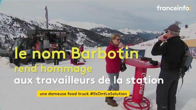 En Savoie, les skieurs peuvent déjeuner grâce à une dameuse transformée en food truck