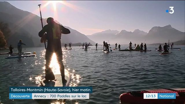Annecy : 700 paddles sur le lac