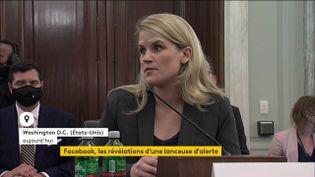 Frances Haugen a été entendue par le Sénat américain. (FRANCEINFO)