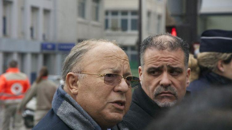 """Dalil Boubaker, le président du Conseil français du culte musulman (CFCM), à Paris, le jour de l'attaque contre """"Charlie Hebdo"""", le 7 janvier 2015. (CITIZENSIDE.COM / AFP)"""