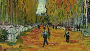 """Détail du tableau de Van Gogh """"Allée des Alyscamps""""  (Sotheby's New York / Epa / MaxPPP)"""