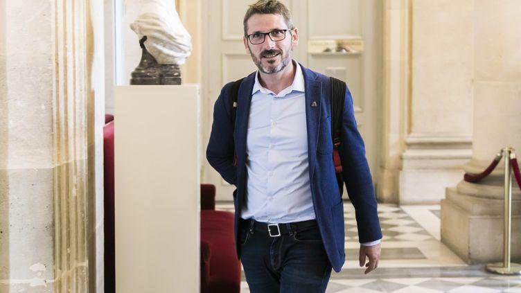 Matthieu Orphelin, le 11 juin 2019 dans la salle des 4 colonnes à l'Assemblée nationale. (VINCENT ISORE / MAXPPP)