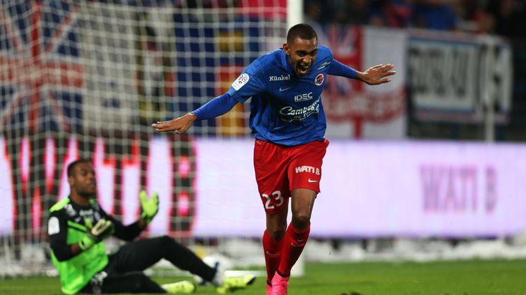 Après une saison en prêt, Ronny Rodelin s'est engagé définitivement avec Caen (CHARLY TRIBALLEAU / AFP)