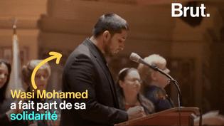 """VIDEO. """"Nous serons là"""" : le responsable du centre islamique de Pittsburgh apporte son soutien à la communauté juive (BRUT)"""