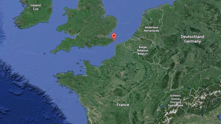 Un séisme, dont l'épicentre se situait au sud-est de l'Angleterre, a été ressenti dans le Pas-de-Calais, dans la nuit du 21 au 22 mai 2015. ( GOOGLE MAPS)