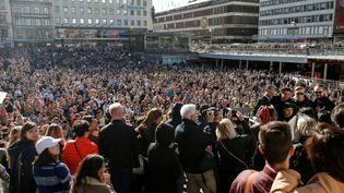 Hommage à Avicci, Stokholm 21 avril 2018  (Fredrik PERSSON / TT News Agency / AFP)