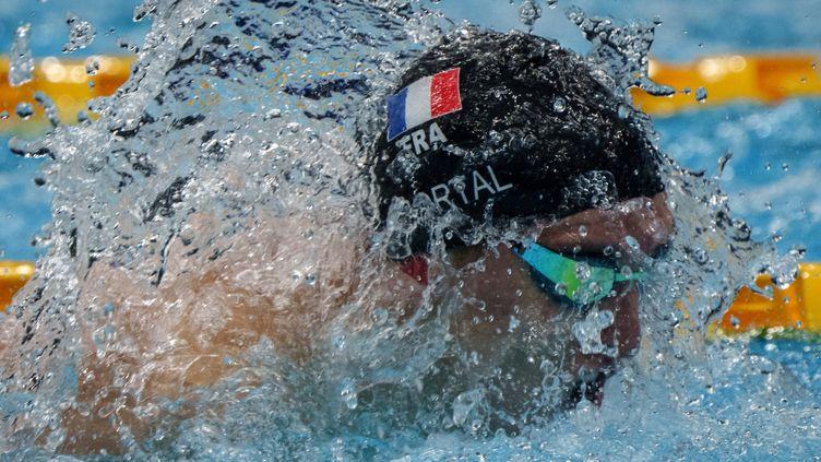 Alex Portal aux Jeux paralympiques de Tokyo. (YASUYOSHI CHIBA / AFP)