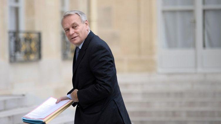 Le Premier ministre, Jean-Marc Ayrault au Palais de l'Elysée, le 30 octobre 2012 (MARTIN BUREAU / AFP)