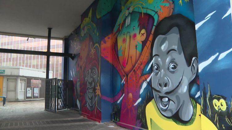 Le streetart s'immisce dans les rues de Patin grâce au concours d'une trentaine d'artiste. (France 3 Paris)
