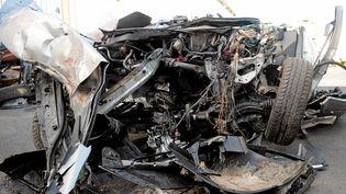 Cinq jeunes hommes sont morts dans un accident de voitures survenu lors d'une course-poursuite, dans la nuit du 29 au 30 mai 2014 au Cap d'Agde (Hérault). (  MAXPPP)