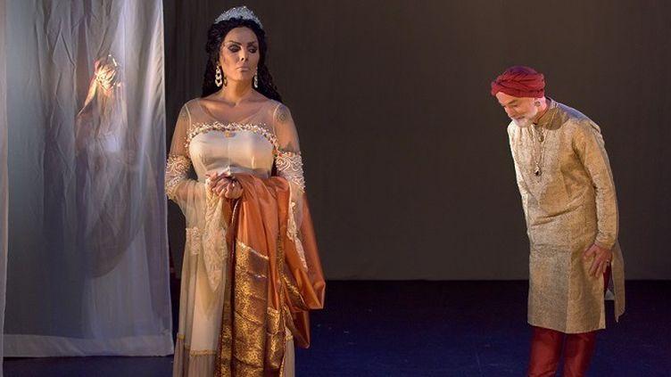 """Estelle Roedrer et Pascal Parsat dans """"Bérénice"""" de Racine mis en scène par Frédéric Fage  (Antonin Godfryd)"""