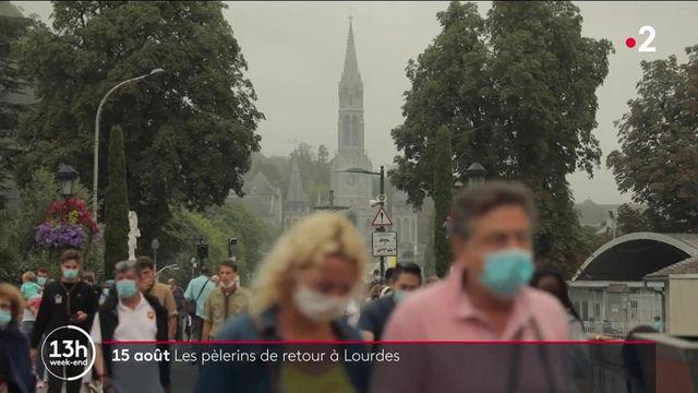 Lourdes : les pèlerins sont de retour en masse pour la messe de l'Assomption