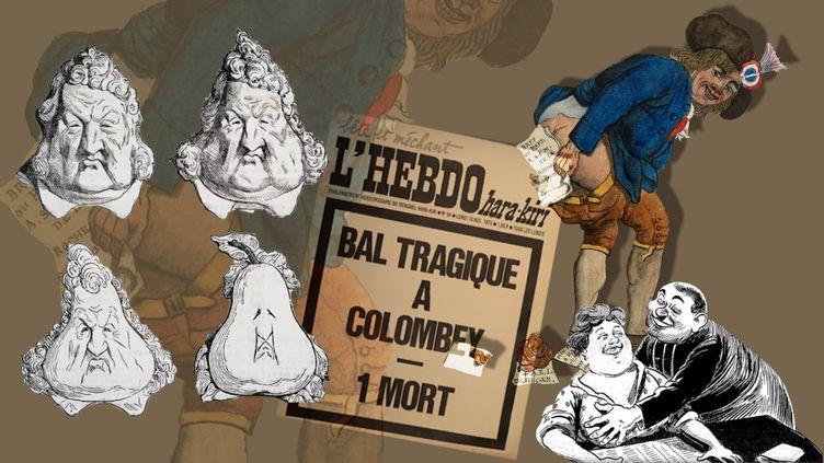Quelques exemples de caricatures en France (STEPAHNIE BERLU /RADIO FRANCE)