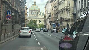 Le centre-ville de Prague (République tchèque). (ERIC AUDRA / RADIO FRANCE)