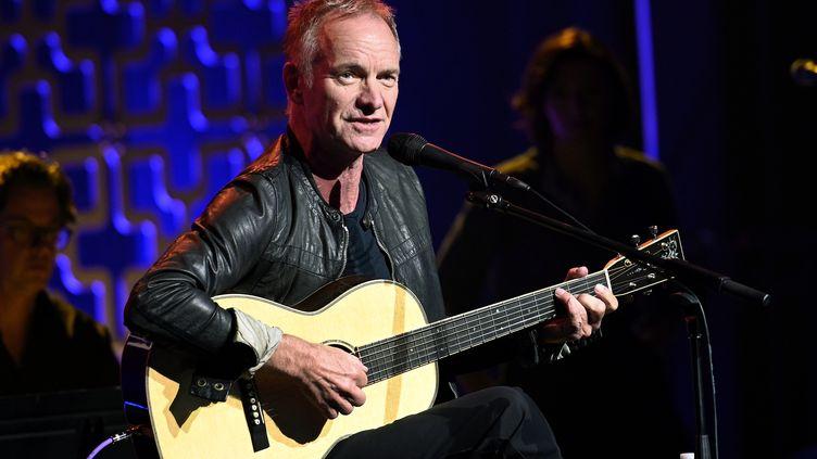 Le chanteur Sting en janvier 2020 en Californie (ANDREW TOTH / GETTY IMAGES NORTH AMERICA)