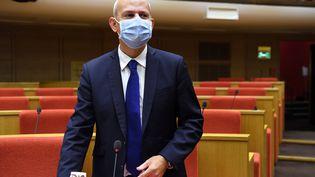 Le directeur de la Santé, Jérôme Salomon, lors de son audition par la Commission d'enquête du Sénat, le 16 septembre 2020. (ALAIN JOCARD / AFP)