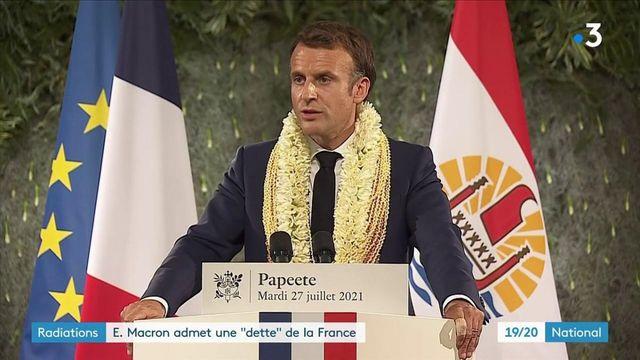 """Essais nucléaires : en Polynésie, Emmanuel Macron reconnaît une """"dette"""" de la France"""