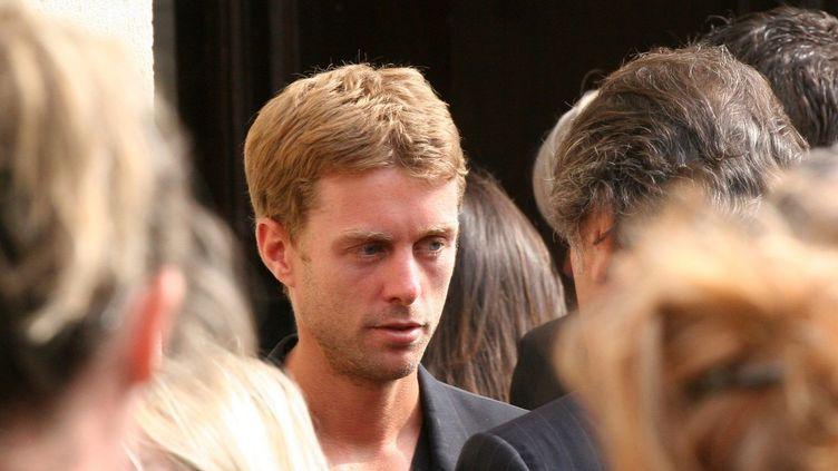 Grégory Boudou, le frère de Laeticia Hallyday, en 2010 à l'enterrement de son grand-père.  (Michel Clementz / World Pictures / MaxPPP)