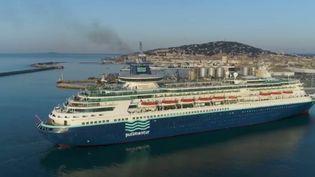 Le secteur des croisières est en pleine explosion en France. Dans l'Hérault, la ville de Sète accueille de plus en plus ces navires géants.  (CAPTURE ECRAN FRANCE 2)