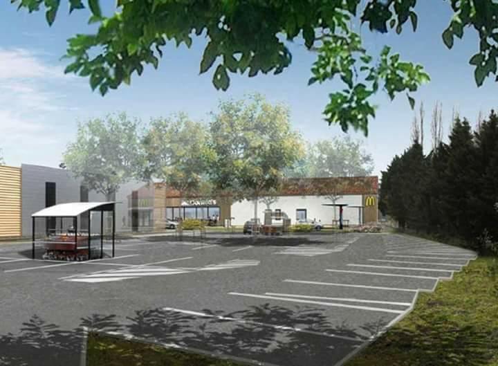 Vue en 3D du projet McDonald's sur l'île d'Oléron (Charente-Maritime). (T.Luizard / MacDonald's France)