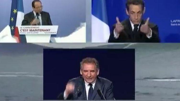 Les candidats à la présidentielle de dimanche 22 avril et leurs militants se mobilisent jusqu'au bout. (CAPTURE D'ÉCRAN FRANCE 2)