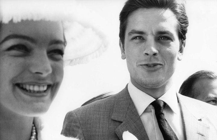Avec Romy Schneider en 1962.  ( DALMAS/SIPA)
