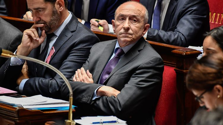 Le ministre de l'Intérieur, Gérard Collomb, à l'Assemblée nationale, le 17 octobre 2017. (MAXPPP)