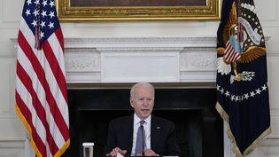 Le président américain Joe Biden à la Maison Blanche, à Washington, le 30 juillet 2021. (SUSAN WALSH / AP / SIPA)
