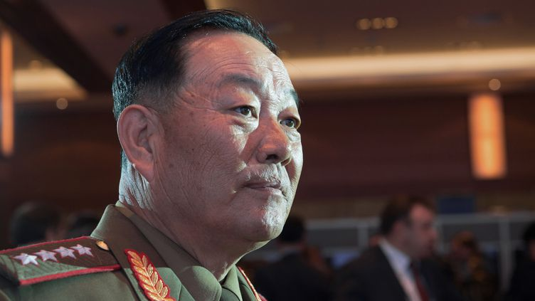 Le ministre de la Défense nord-coréen,Hyon Yong-Chol, le 16 avril 2015 à Moscou (Russie). (ILIYA PITALEV / RIA NOVOSTI)