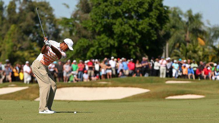 Tiger Woods en démonstration en Floride
