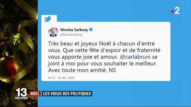 Noël : les voeux des politiques aux Français