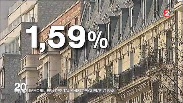 Immobilier : des taux d'emprut historiquement bas