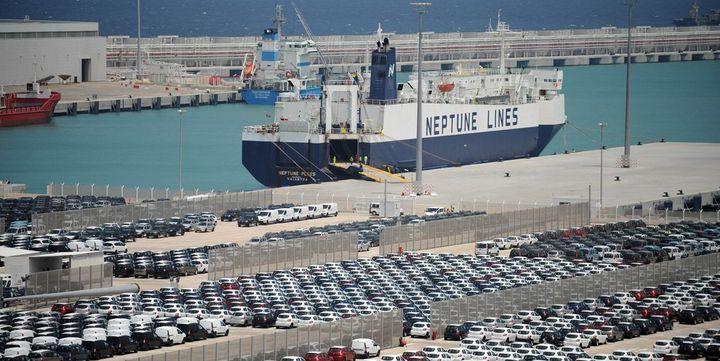 Terminal de l'usine Renault dans le port de Tanger, entre Méditerranée et Atlantique, Europe et Afrique. (AFP/Fadel Senna)