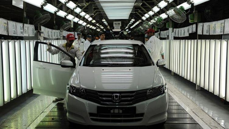Chaîne de production Honda à New Dehli 2009 (AFPP.Singh)