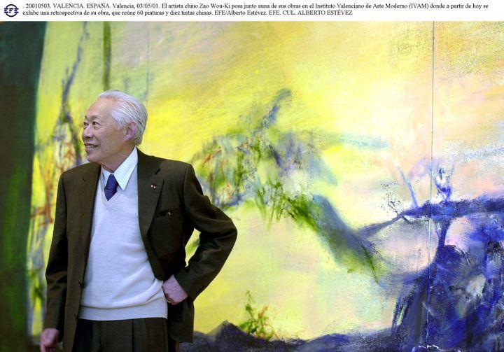 L'artiste Zao Wou-Ki, Valencia, 2001 (ALBERTO ESTEVEZ / EFE)