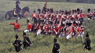 Reconstitution de la bataille de Waterloo (Belgique), le 17 juin 2012. (GEORGES GOBET / AFP)