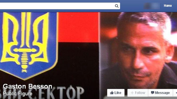 (Gaston Besson a 47 ans et se bat du côté pro-ukrainien © Capture d'écran Facebook)