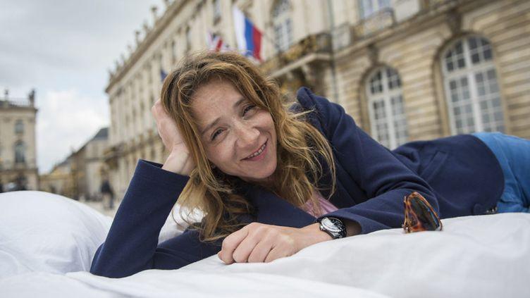 """Sylvie Testud le 13 septembre 2014 à Nancy, aux rencontres du """"Livre sur la place""""  (Arnaud Beinat / Max PPP)"""