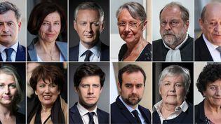 Le gouvernement de Jean Castex, nommé le 6 juillet 2020. (Joël SAGET, Bertrand GUAY, Franck FIFE, Thomas SAMSON, Ludovic MARIN / AFP)