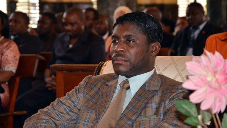Teodorin Obiang, le fils du président de Guinée équatoriale, lors d'une messe à Bata, le 25 juin 2013. (JEROME LEROY / AFP)