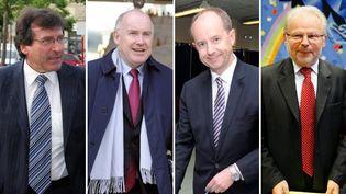 De g. à dr.,Philippe Plisson (PS), Dominique Bussereau (UMP), Jean-Jacques Urvoas (PS) et Christian Kert (UMP). (AFP / MAXPPP / FTVI)