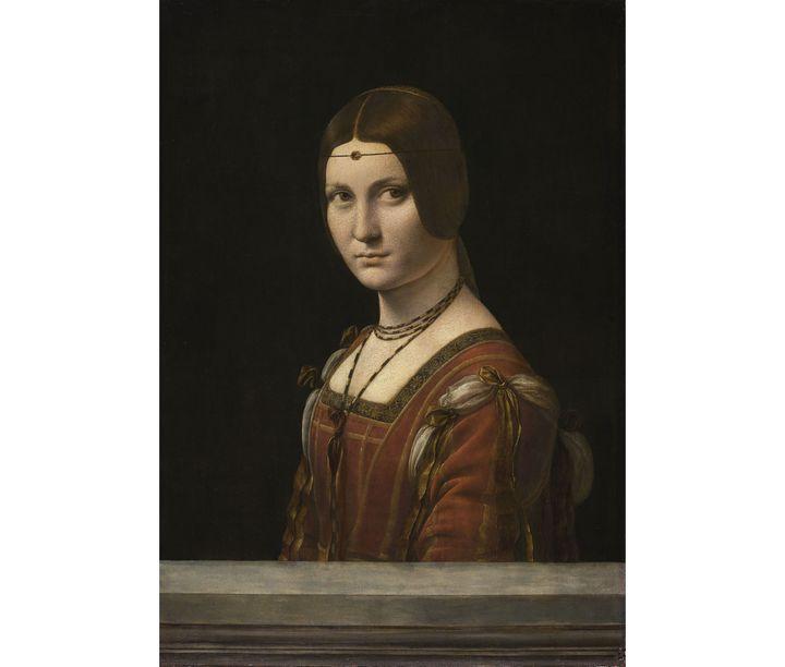 """Léonard de Vinci, """"Portrait d'une dame de la cour de Milan"""", dit à tort """"La Belle Ferronnière"""", vers 1490-1497 (© RMN-Grand Palais (musée du Louvre) / Michel Urtado)"""
