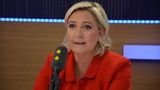 Marine Le Pen,présidente du FN et député du Pas-de-Calais. (RADIO FRANCE / JEAN-CHRISTOPHE BOURDILLAT)