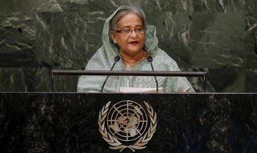La Première ministre du Bangladesh, Sheikh Hasina, au siège des Nations Unies le 27 septembre 2015 ( REUTERS - Mike Segar)