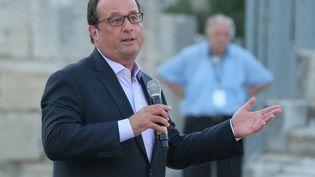 François Hollande était le 21 juillet 2017 au théâtred'Arles (Bouches-du-Rhône)pour une intervention sur l'engagement (MAXPPP)
