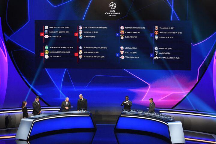 Le tirage au sort de la Ligue des Champions 2021 le 26 août. (OZAN KOSE / AFP)